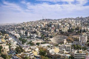 Amman city aerial view