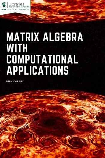 Cover image for Matrix Algebra with Computational Applications