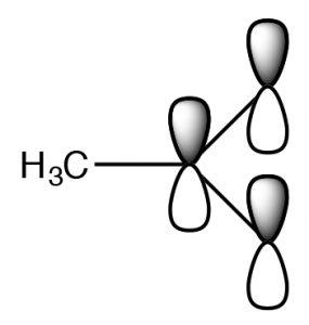 A molecular orbital model of H3C.