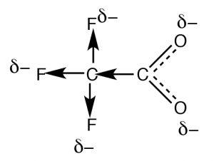 Resonance of -CO2-.