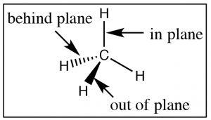 An image of a 3-D sp^3 hybridized carbon.
