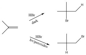 An image of a reaction from regiochemistry.