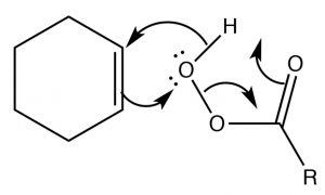 An image of carboxylic acid with extra oxygen.