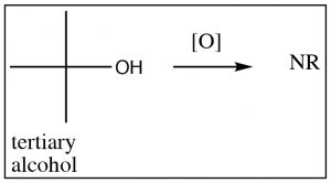 An image of secondary alcohol oxidizing to ketone.