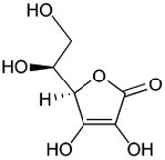 An image of ascorbic acid(vitamin C).