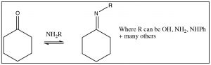 An image of a reaction of hydroxylamine.