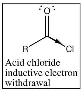 An image of a lewis structure of acid chloride.