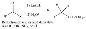 An image of a reaction of lithium aluminum hydride.
