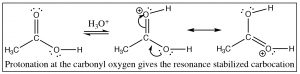 An image of a reaction of carbonyl oxygen.