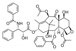An image of a molecule paclitaxel.